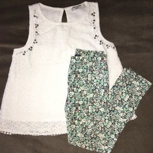 Abercrombie kids lace bling top